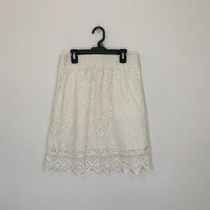Stitch Fix Skies Are Blue White Lace Skirt